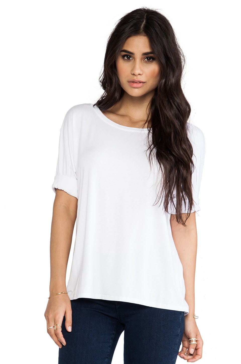 Feel the Piece Izzy Tee in White