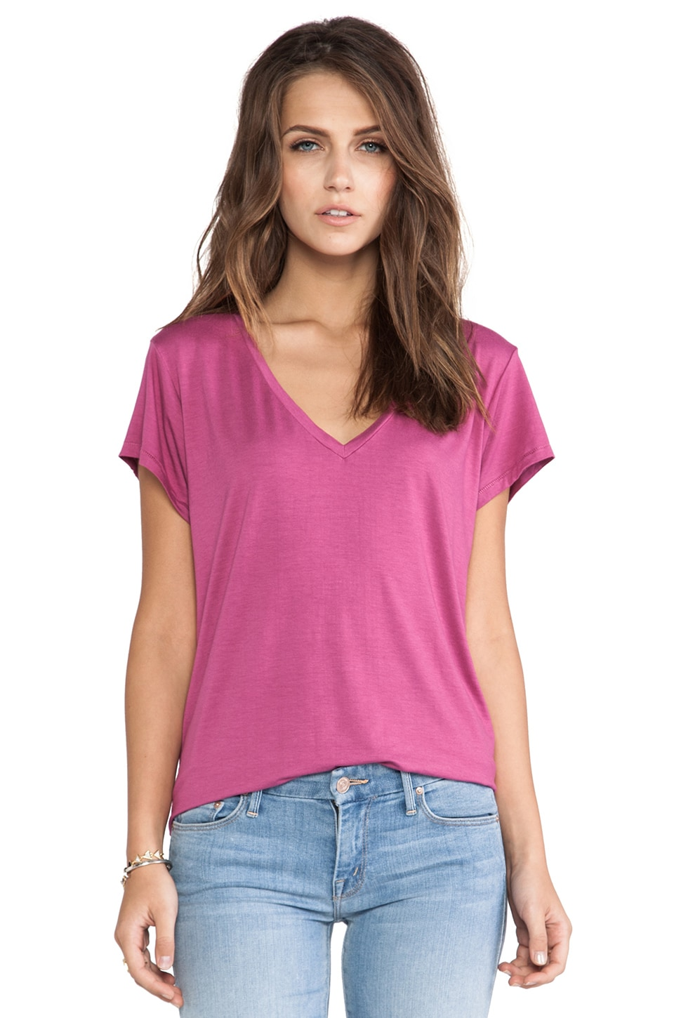 Feel the Piece Champion V Tee in Deep Orchid