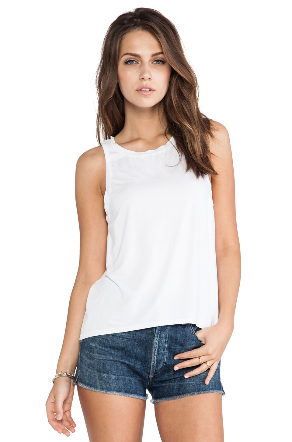 Feel the Piece Daisy Tank in White