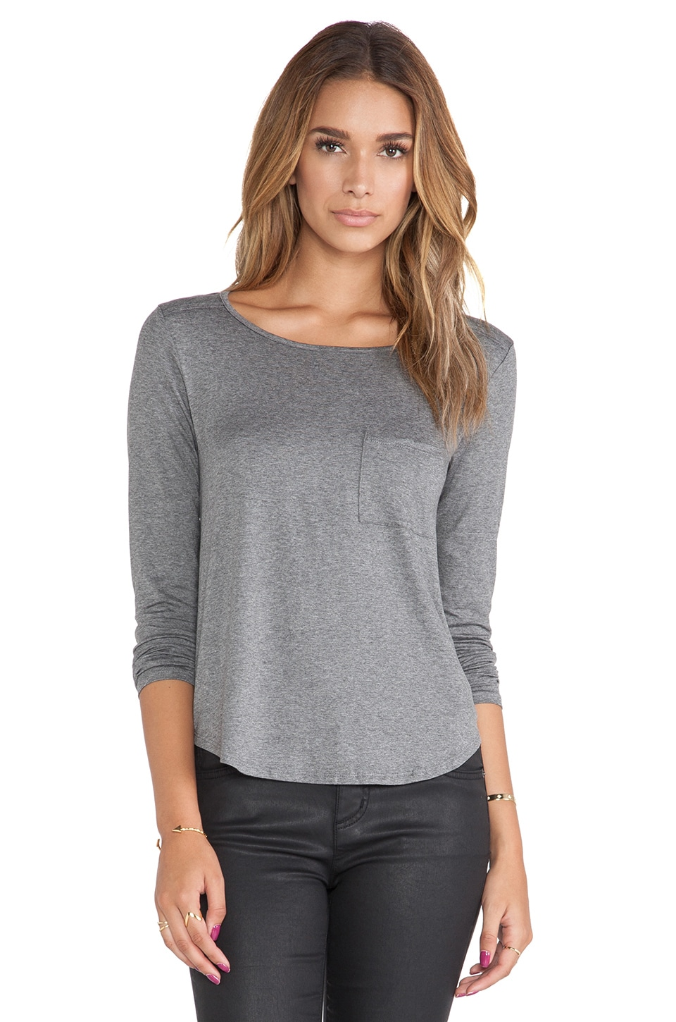Feel the Piece Ellie Long Sleeve in Medium Heather