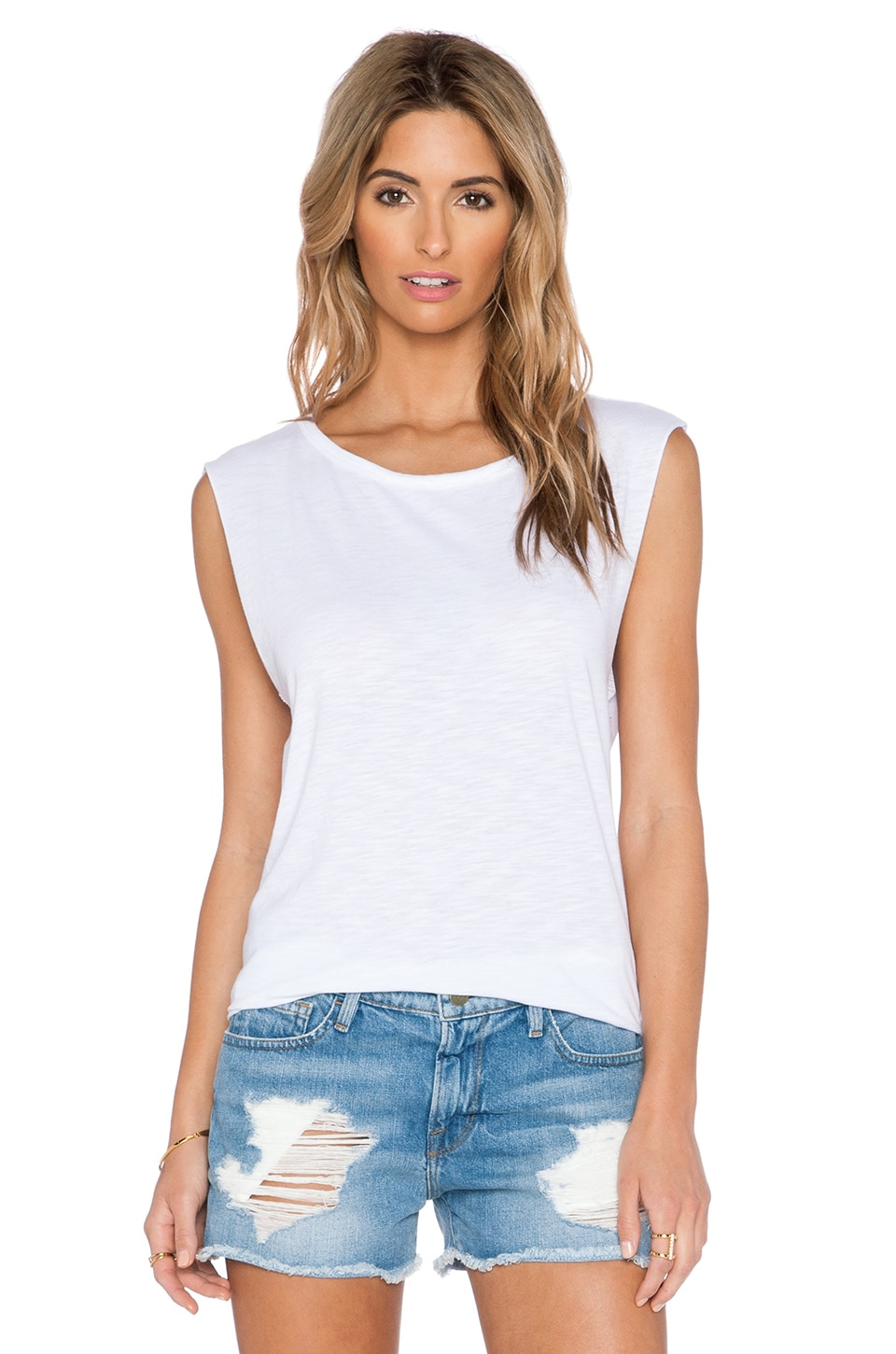 Feel the Piece x Tyler Jacobs Cut Off Tank in White | REVOLVE