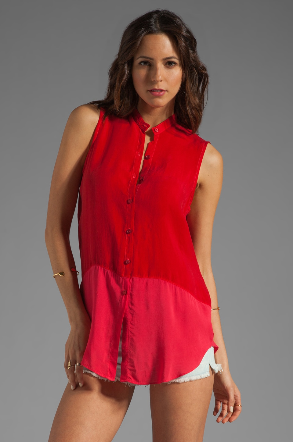 Feel the Piece Louis Button Down Tank in Valentino