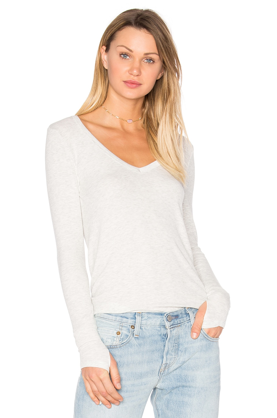 Kailey V Neck Tee by Feel the Piece