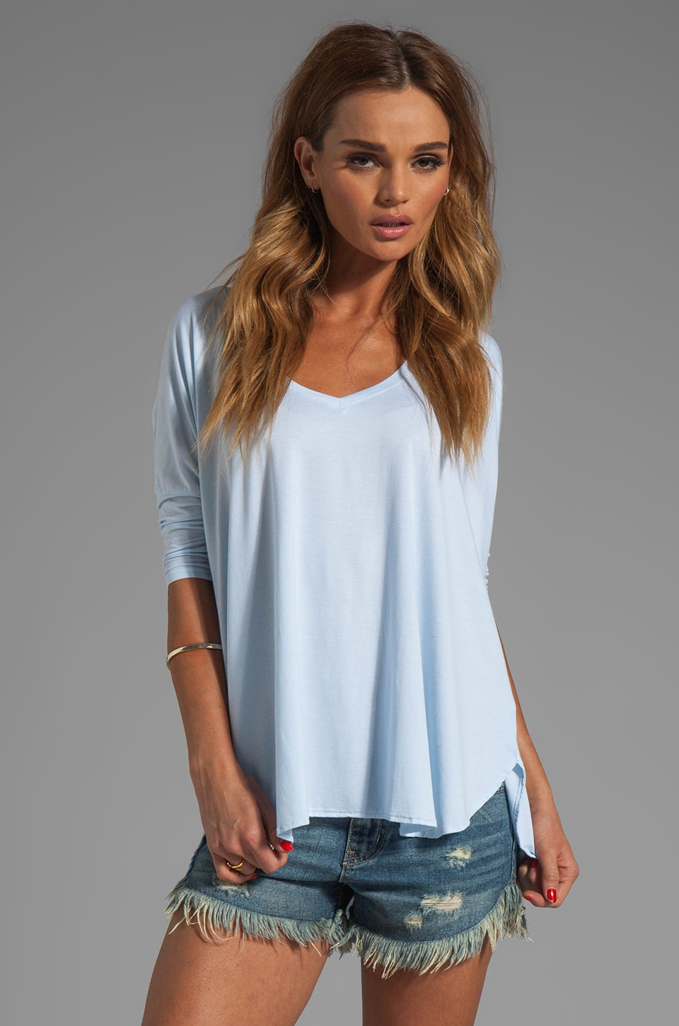 Feel the Piece Sparrow Oversized Tee in Powder Blue