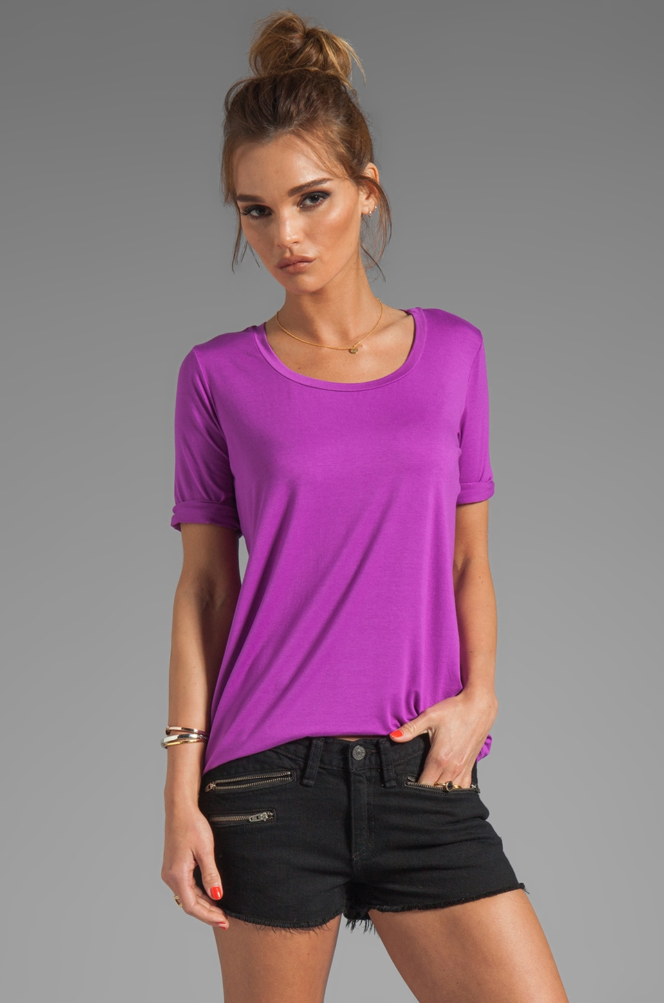 Feel the Piece Boyfriend Tee in Orchid