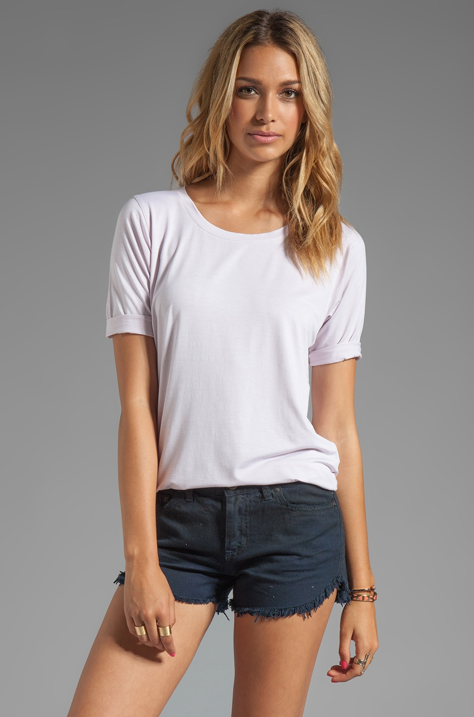 Feel the Piece Boyfriend Tee in Prim