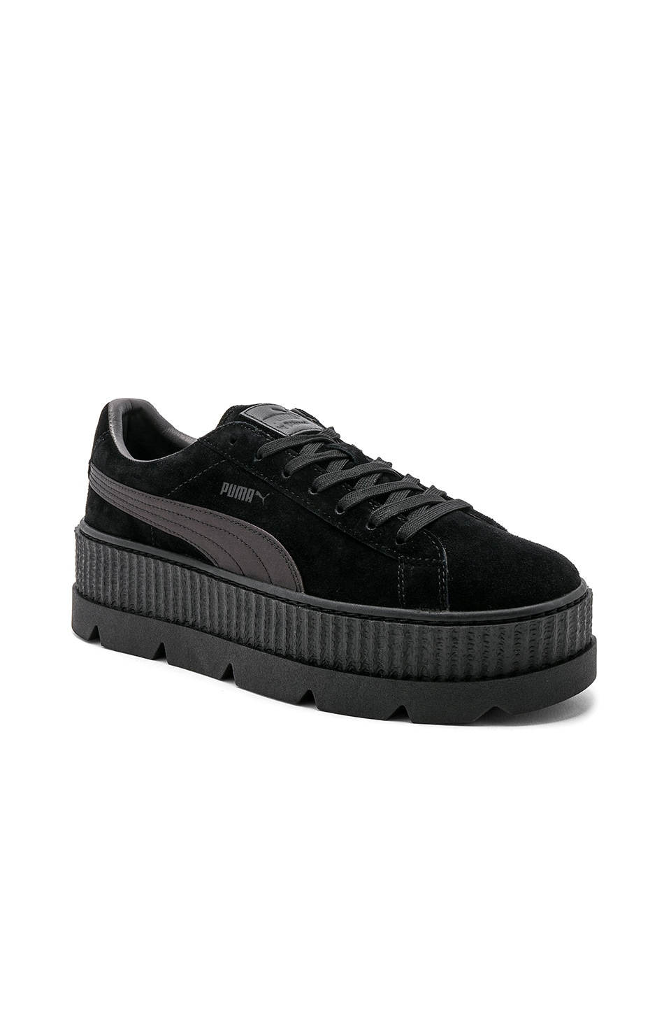 the best attitude 47f63 2cfaa Fenty by Puma Suede Cleated Creepers in Puma Black | REVOLVE