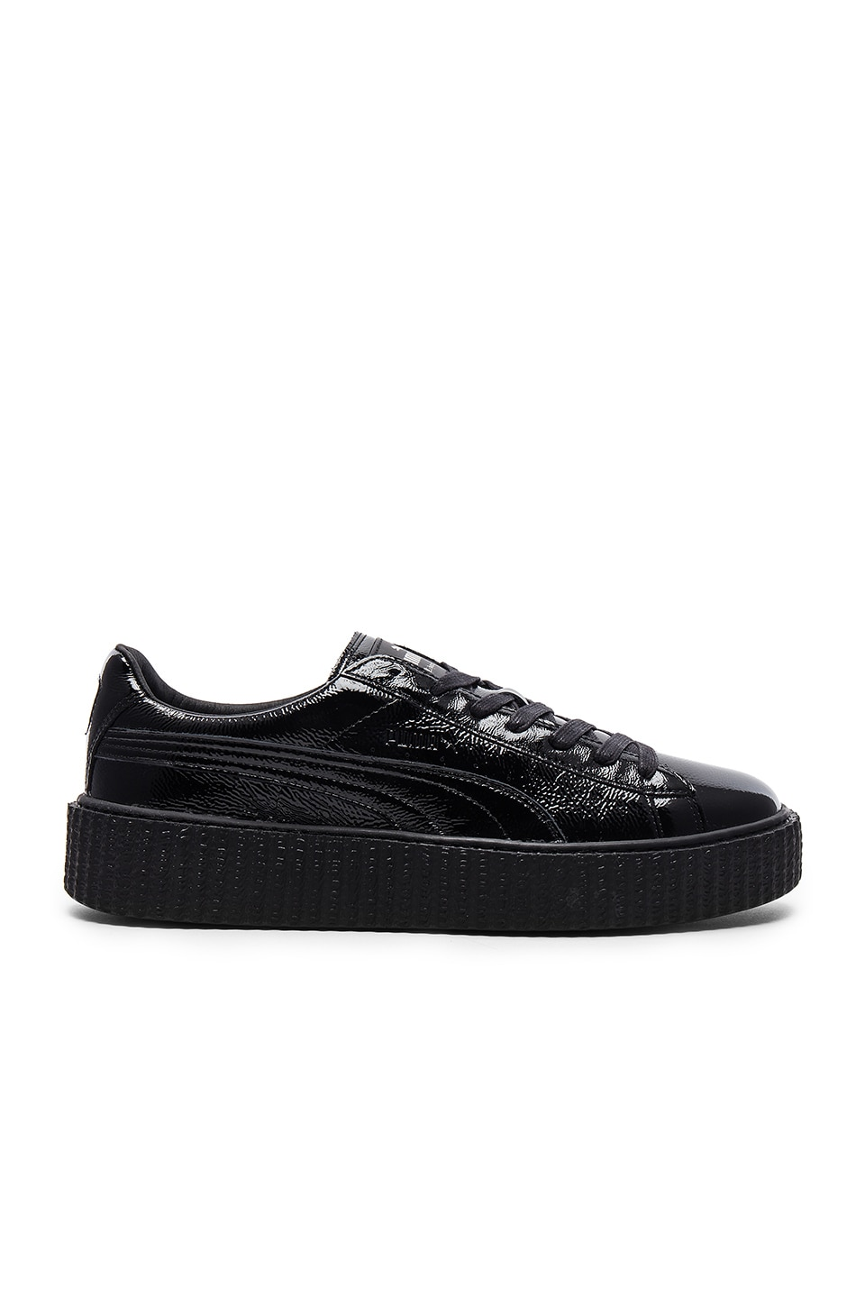 competitive price 34bd6 a56be Fenty by Puma Cracked Leather Creeper in Black & Black ...
