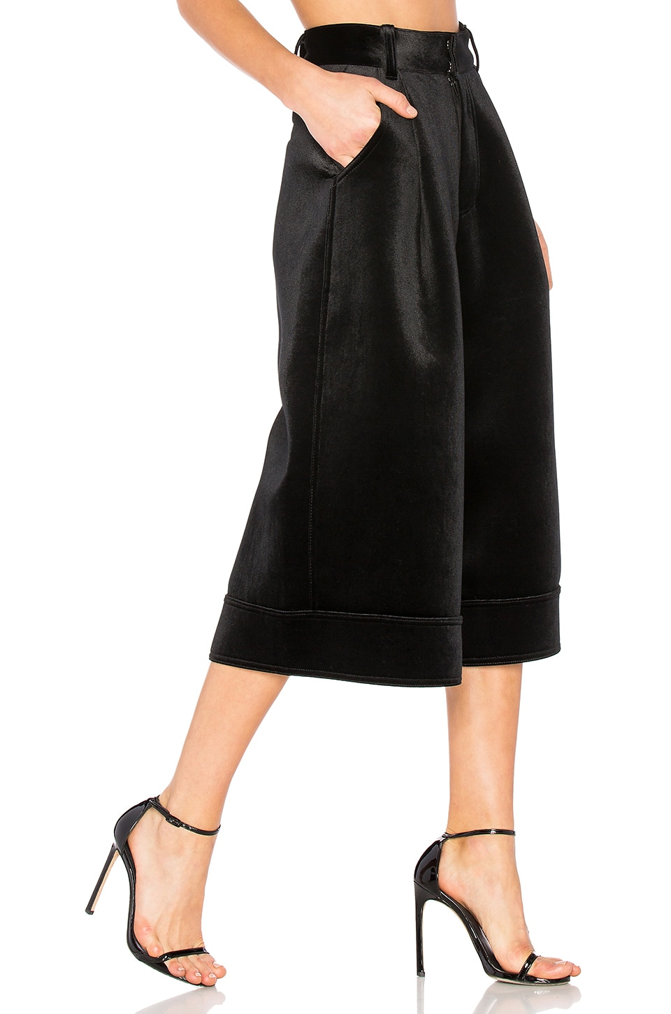 Fenty by Puma Velvet Culotte Pant in Black