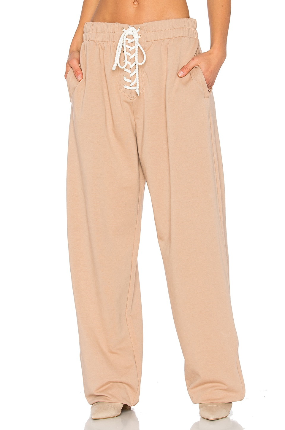 Fenty by Puma Front Lacing Sweatpant in Natural