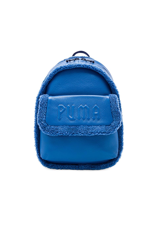 Fenty by Puma Mini Sherpa Backpack in Bright Cobalt