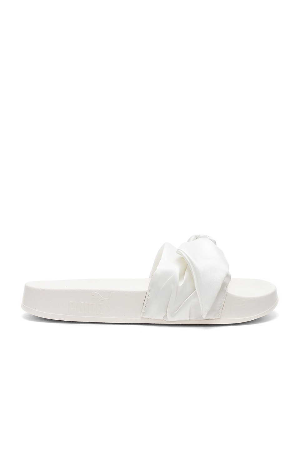 pretty nice 8897b 0ca8f Fenty by Puma Bow Slide in Marshmallow & Puma Silver | REVOLVE