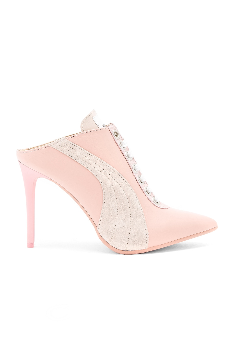Fenty by Puma Lace Up Mule in Cameo Rose
