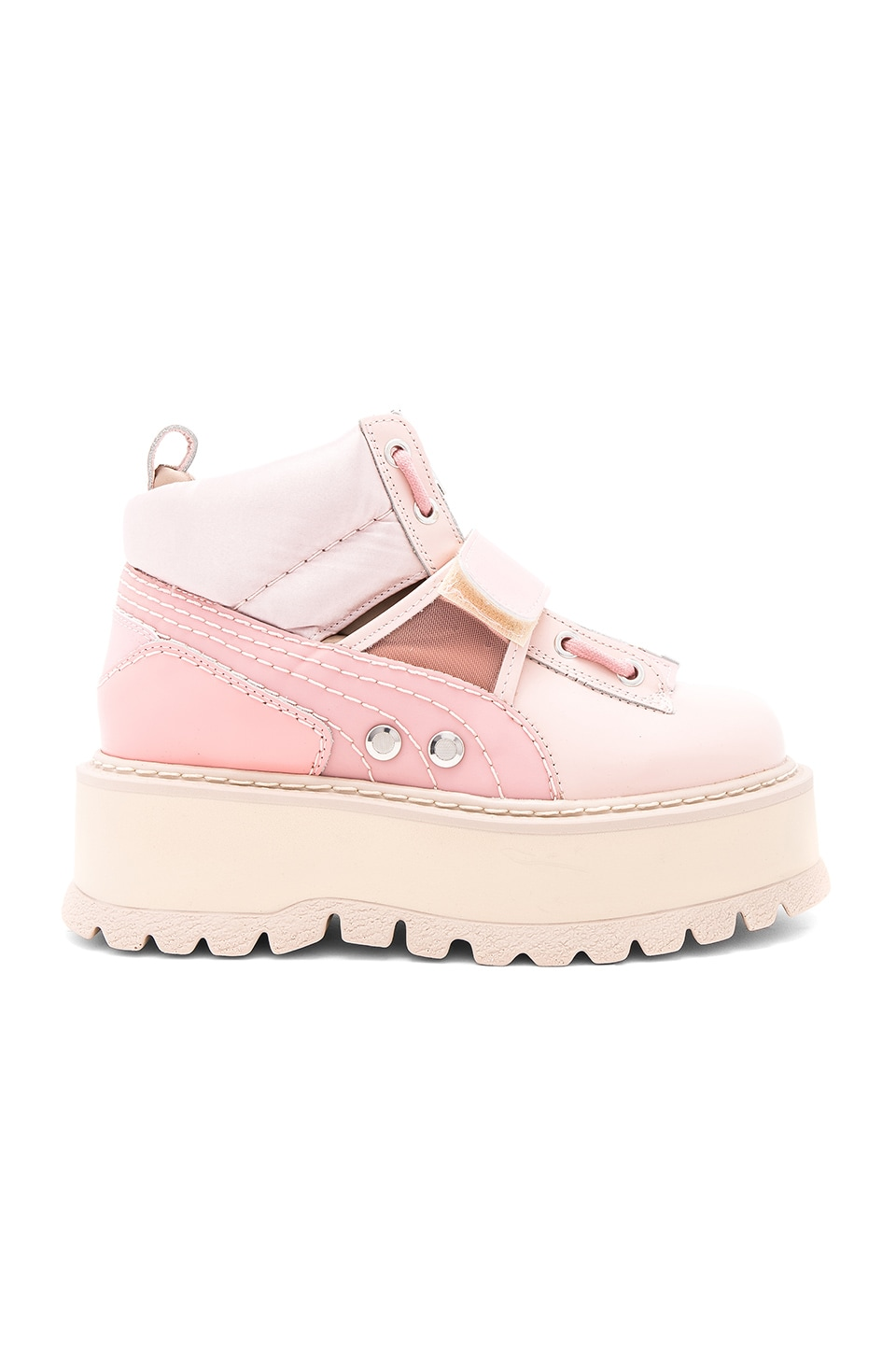 wholesale dealer a6171 8a35d Fenty by Puma Strap Sneaker Boot in Silver Pink | REVOLVE