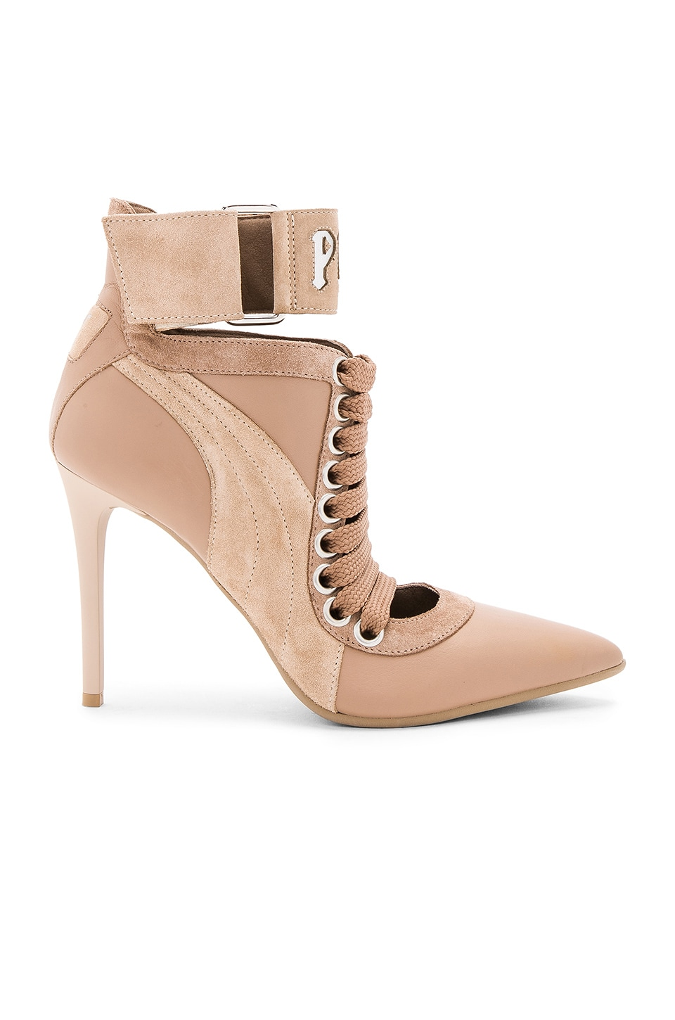 Fenty by Puma Lace Up Heel in Sesame