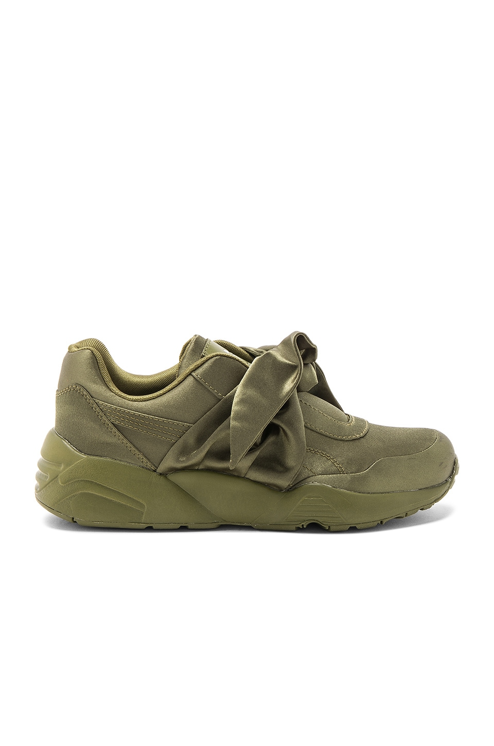 the latest a3218 5144f Fenty by Puma Bow Sneaker in Olive Branch | REVOLVE