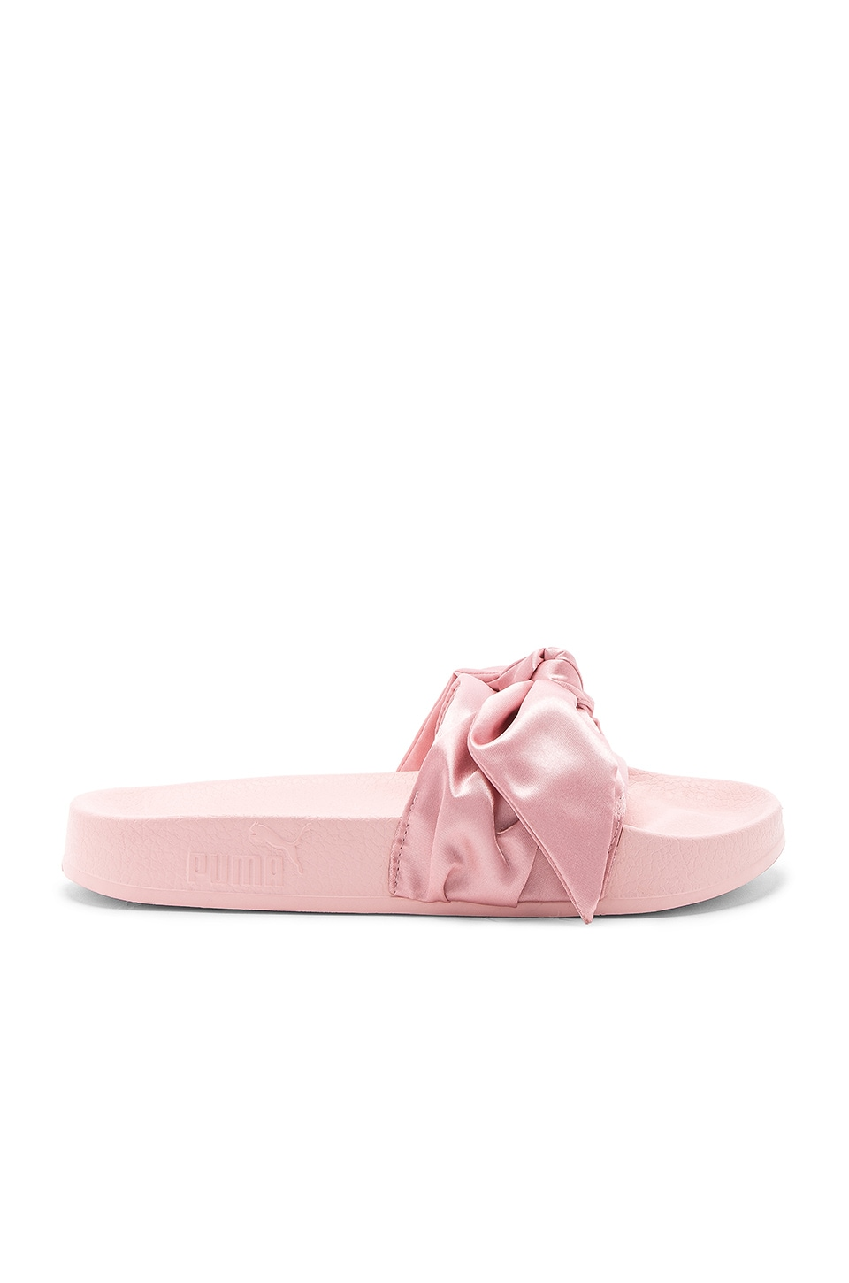new concept 7d3c8 d2f63 Fenty by Puma Bow Slide in Silver Pink | REVOLVE