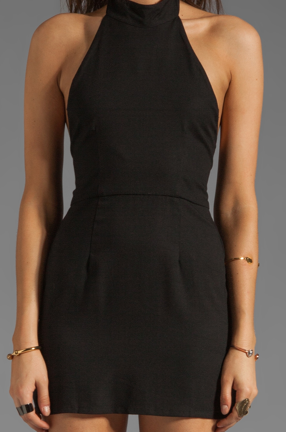 Friend of Mine Shackles Dress in Black