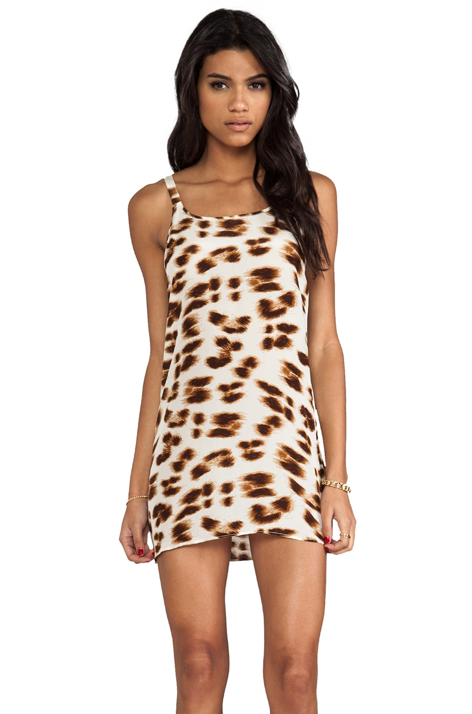 Friend of Mine Drifter Animal Print Dress in Leopard