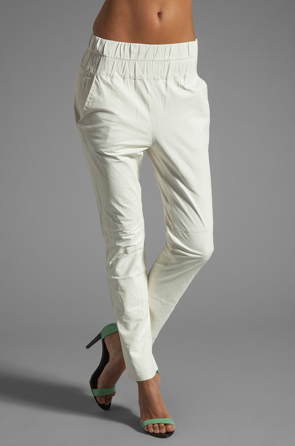 Friend of Mine Tyson Leather Pant in White