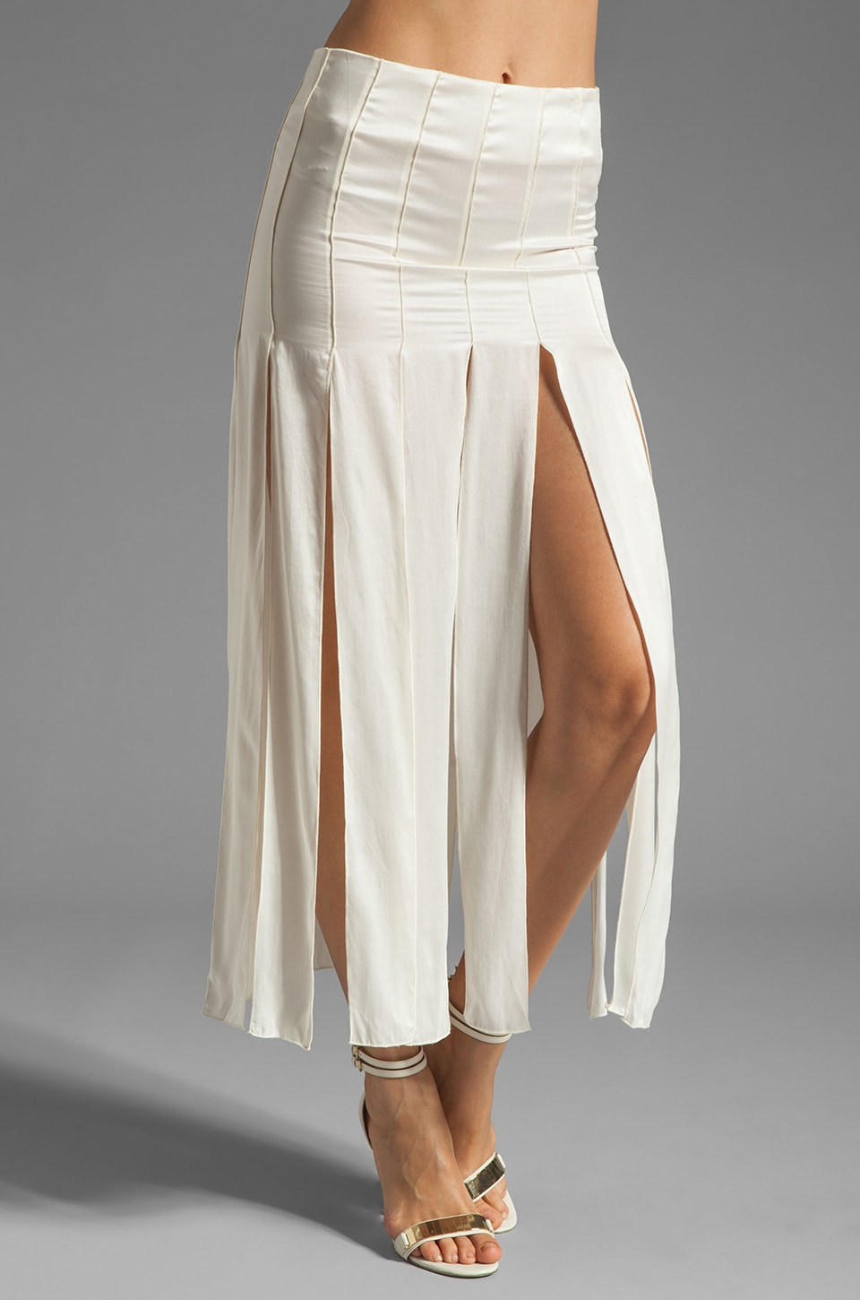 Friend of Mine Doomsday Paneled Skirt in Ivory