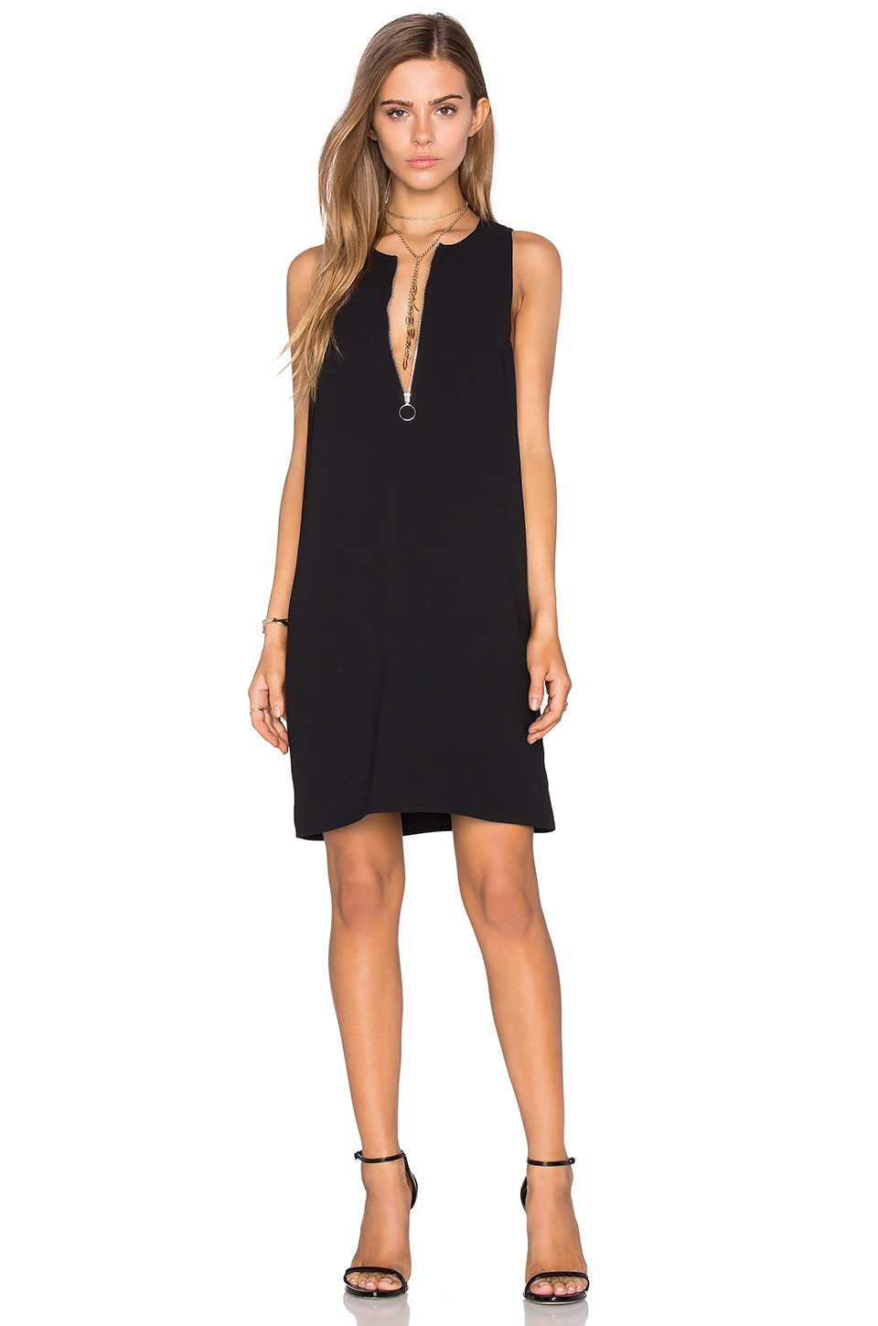 Half Zip Shift Dress by Fifteen Twenty