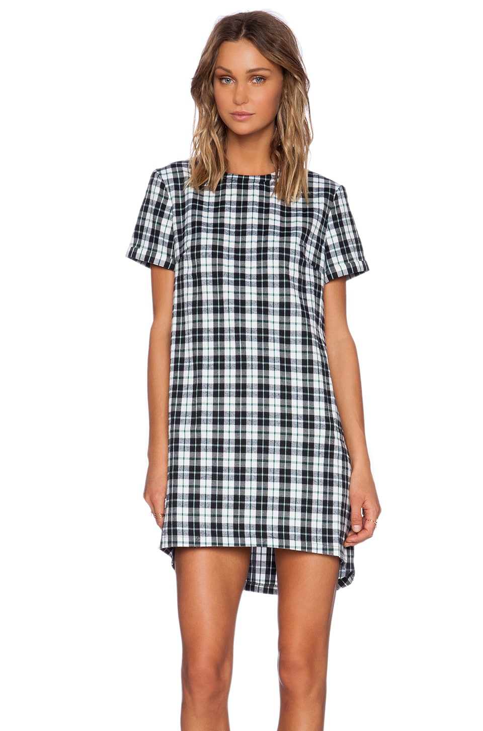 The Fifth Label Chain of Fools T-Shirt Dress in Tartan