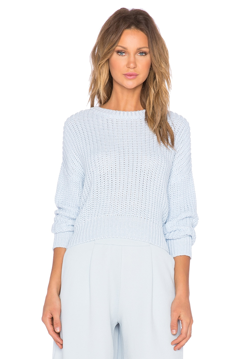The Fifth Label Daylight Knit Sweater in Powder Blue & White | REVOLVE