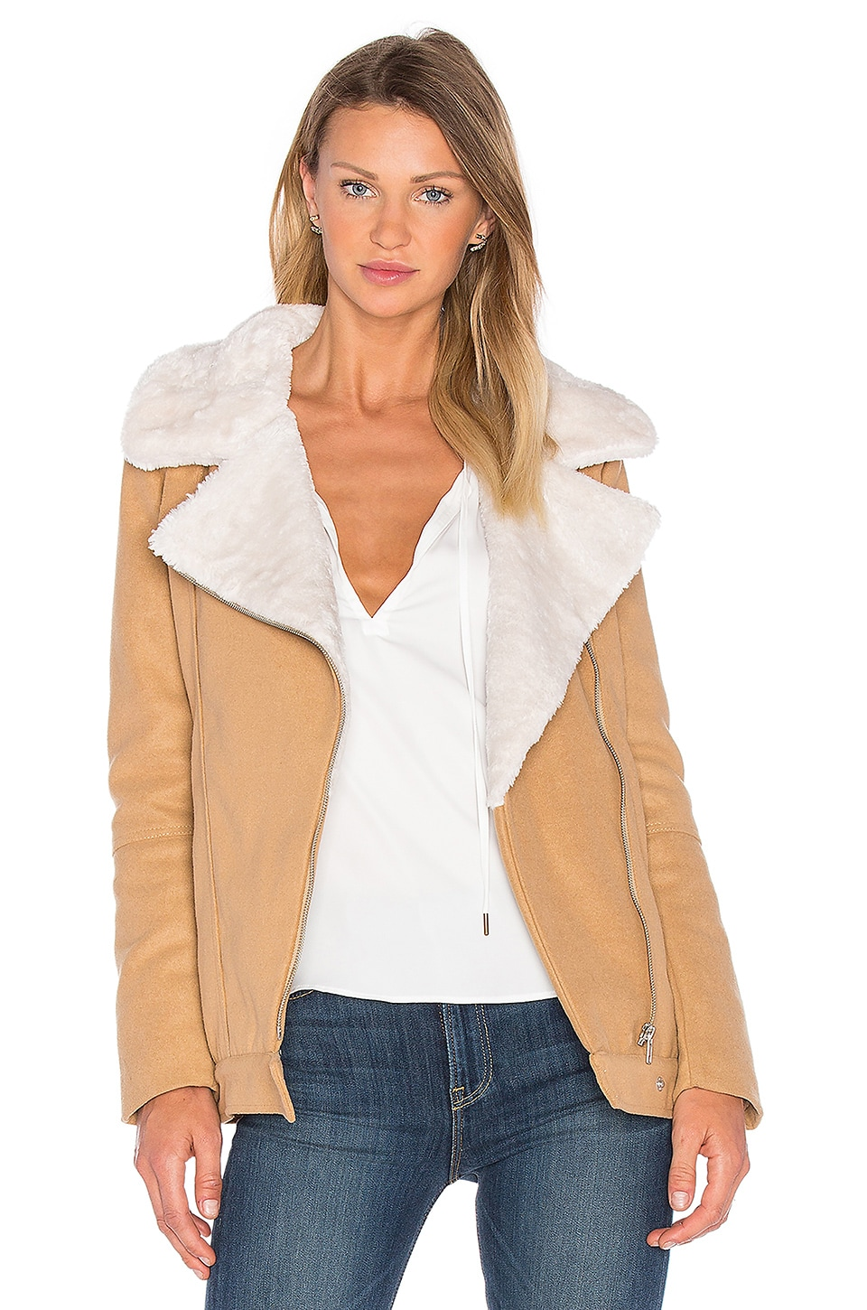 Above & Beyond Jacket with faux fur collar by The Fifth Label