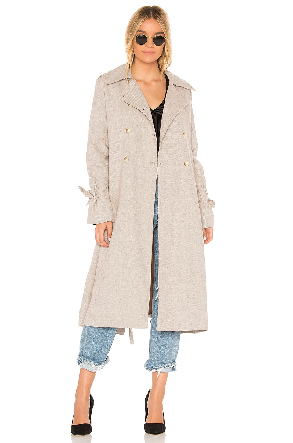 The Fifth Label Eclectic Coat in Light Fawn