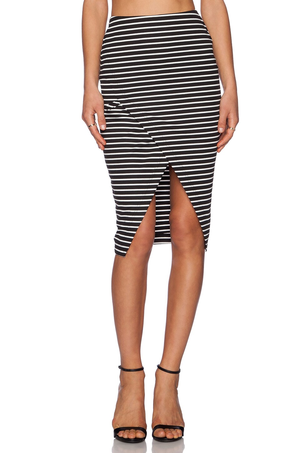 The Fifth Label Roadhouse skirt in Black & White Stripe | REVOLVE