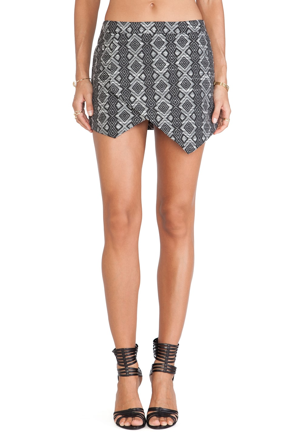 The Fifth Label In the Night Skirt in Aztec Print