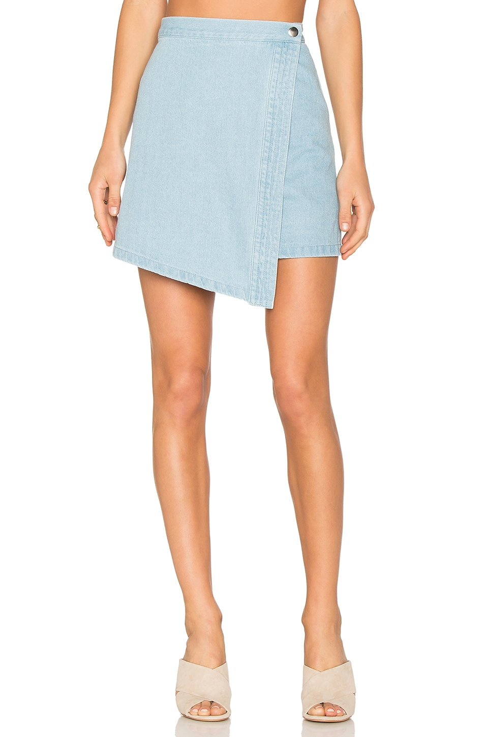 The Fifth Label Blue Eyes Skirt in Light Washed Denim