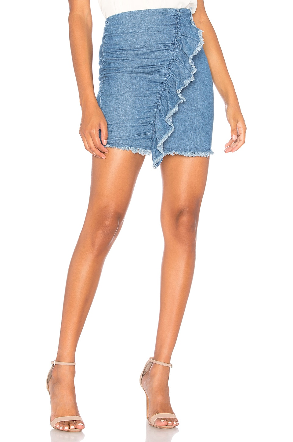 The Fifth Label Deja Vu Skirt in Washed Blue