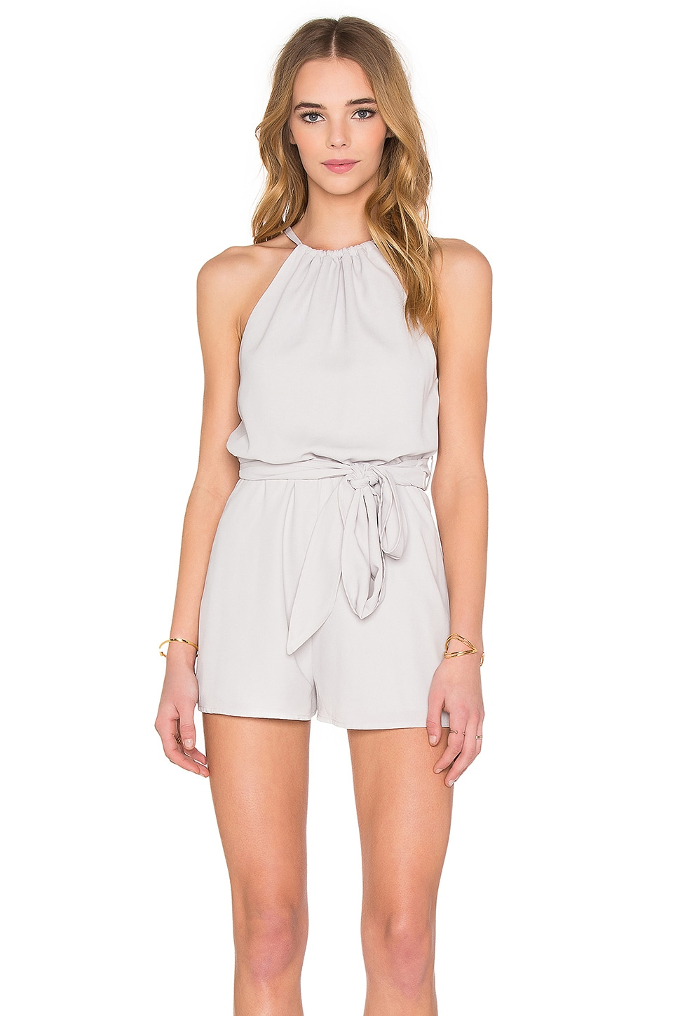 The Fifth Label Applied Imagination Romper in Dove Grey