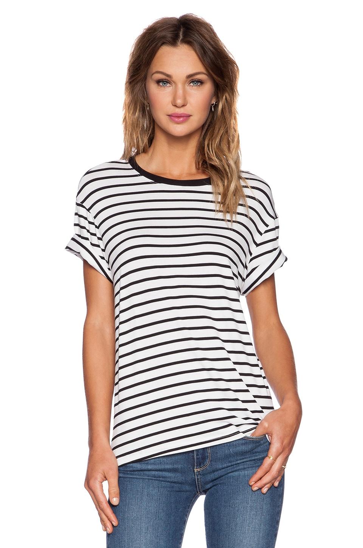 The Fifth Label Building Blocks T-Shirt in White & Black Stripe