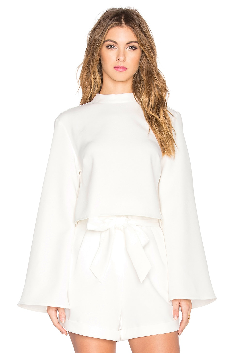 The Fifth Label Stay Awhile Long Sleeve Top in Ivory