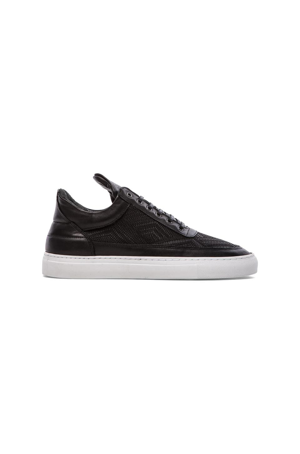 Filling Pieces Low Top TSA Woven in Black