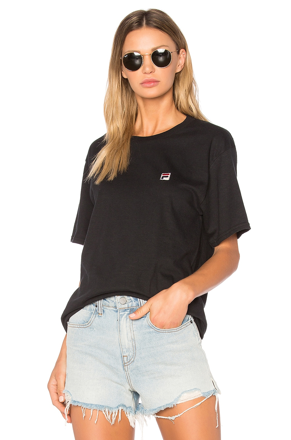 Fila F Box Tee in Black