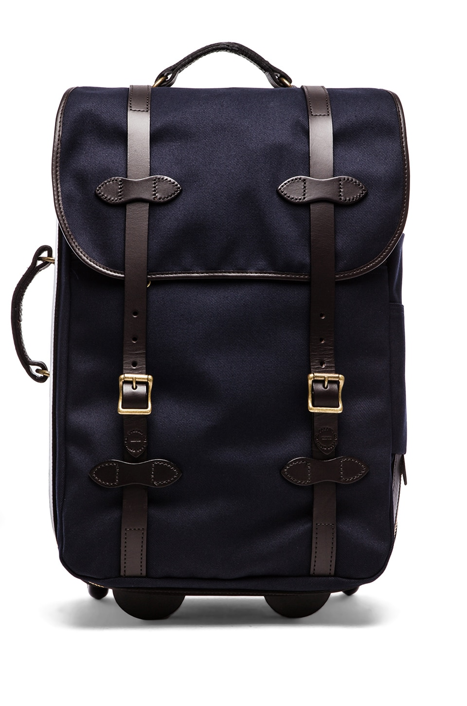 Filson Twill Wheeled Carry on in Navy