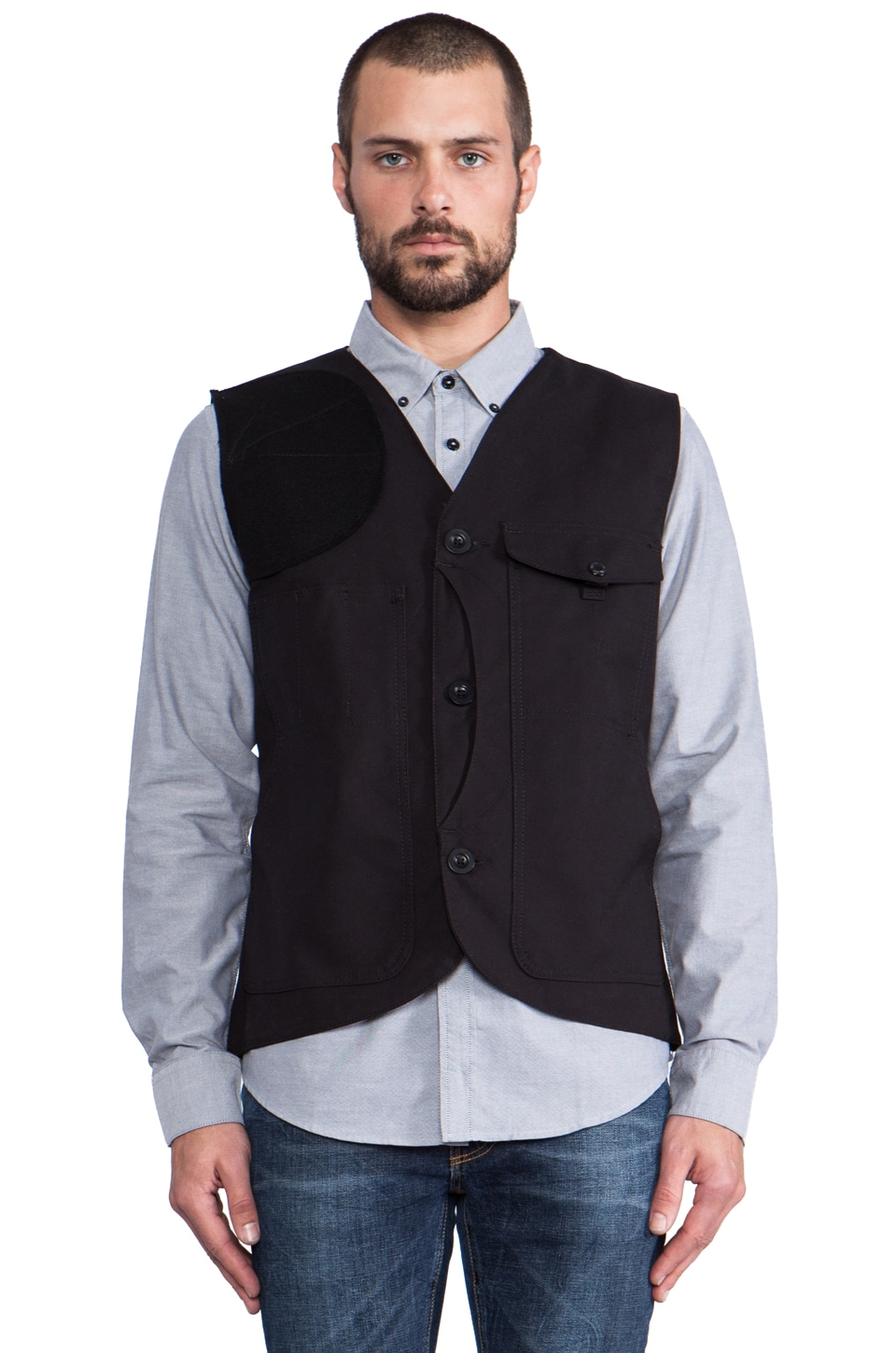 Filson Scout Vest in Black