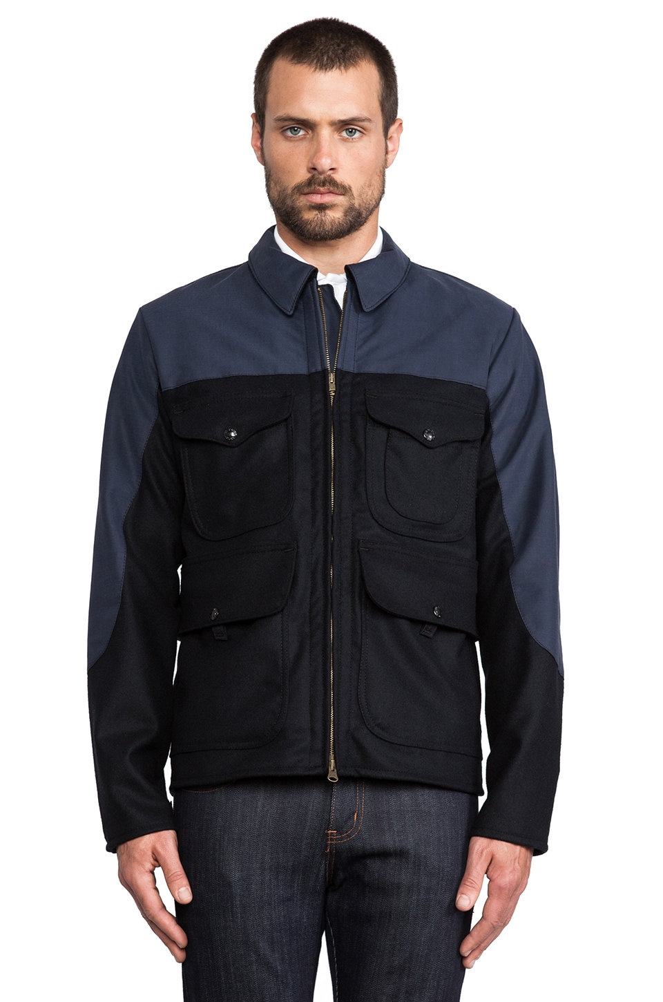 Filson Bell Bomber Jacket in Navy
