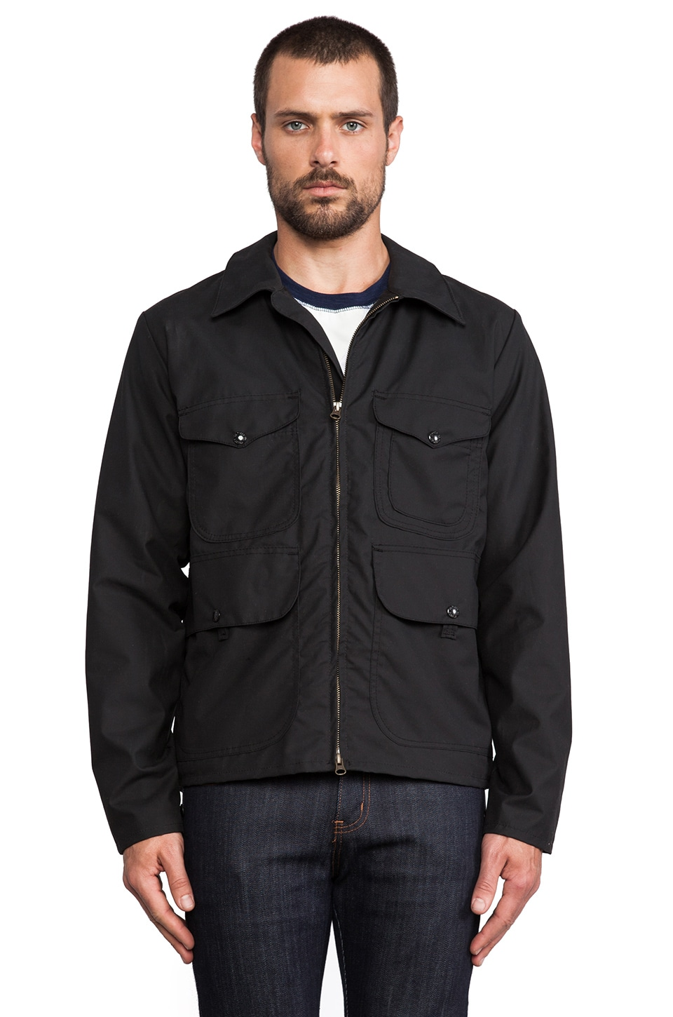 Filson Bell Bomber Jacket in Black