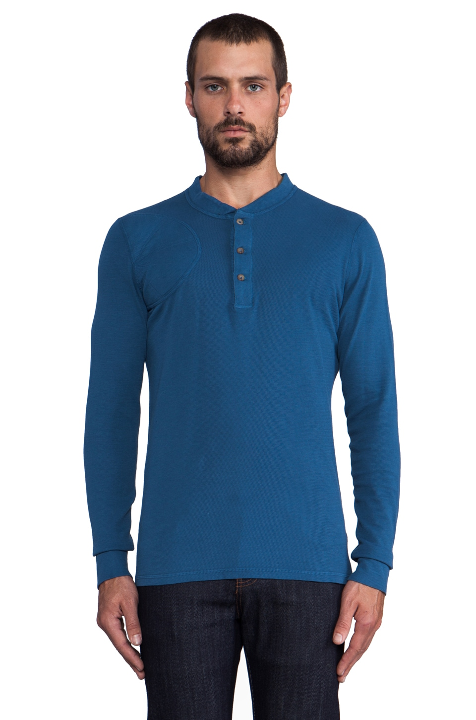 Filson Hunters' Henley in Blue Jay
