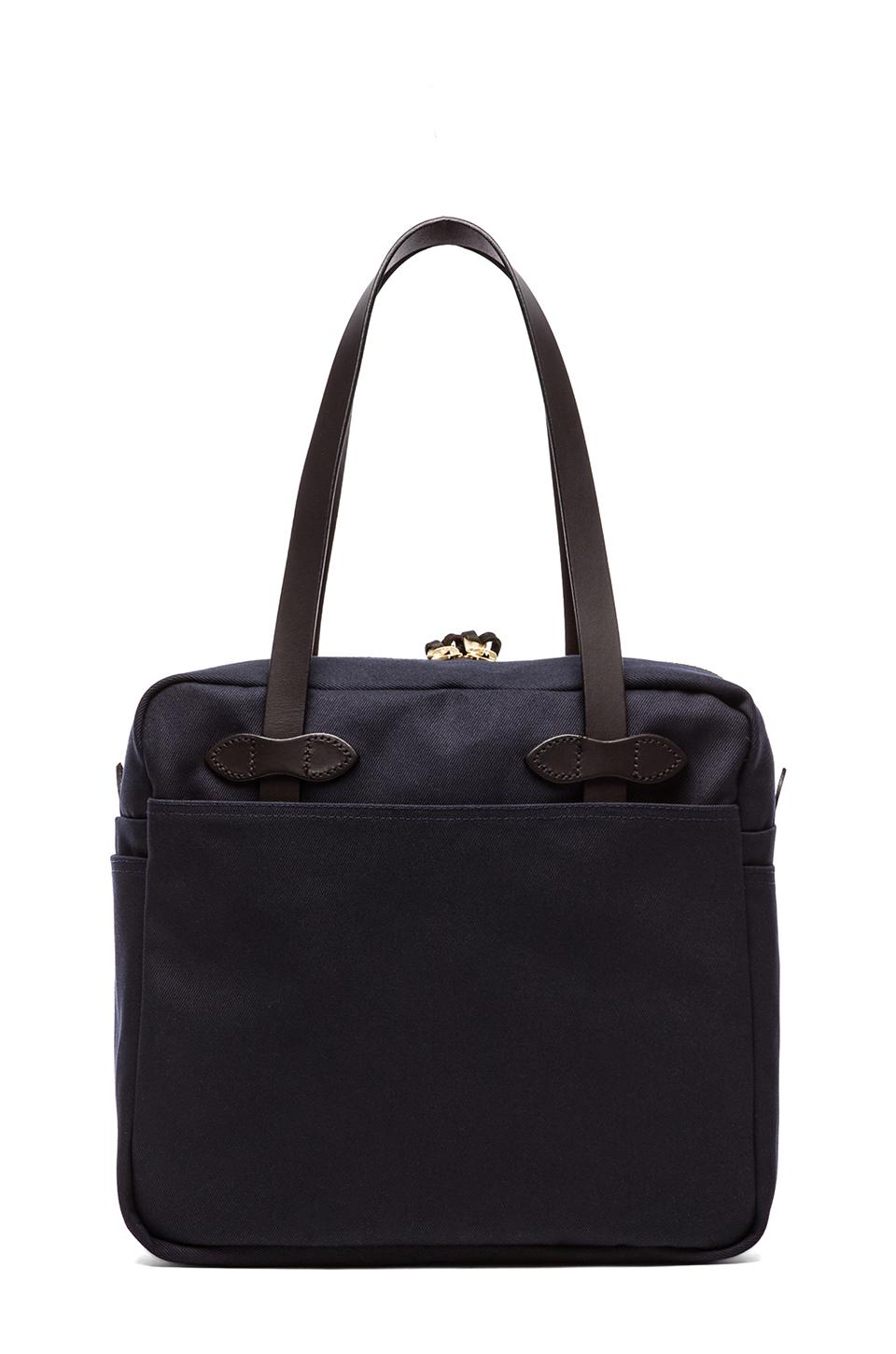 Filson Tote Bag with Zipper in Navy