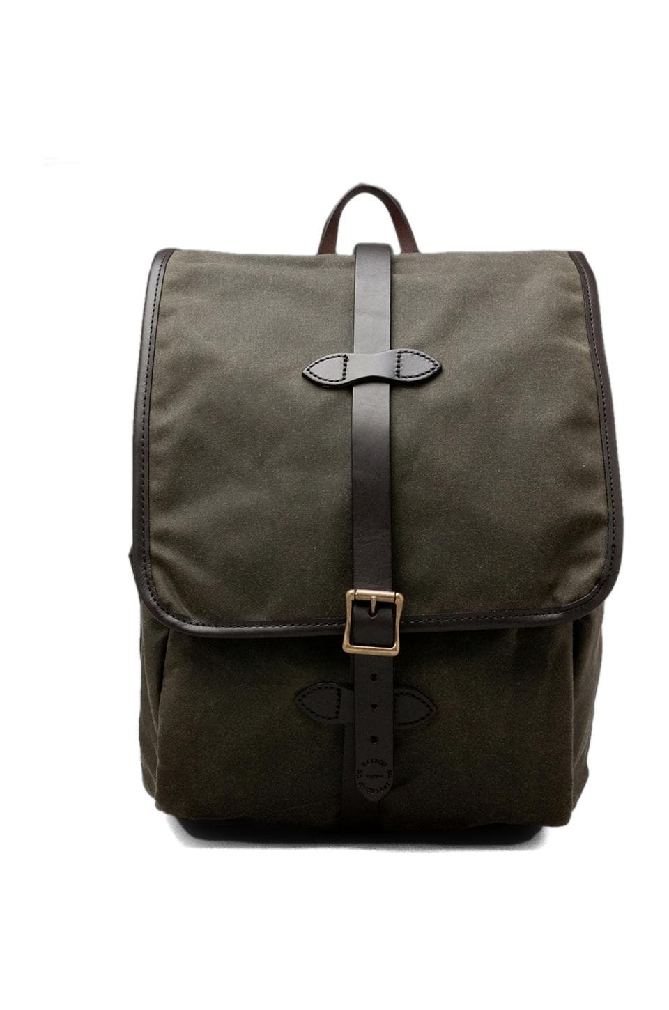 Filson Tin Cloth Backpack in Otter Green