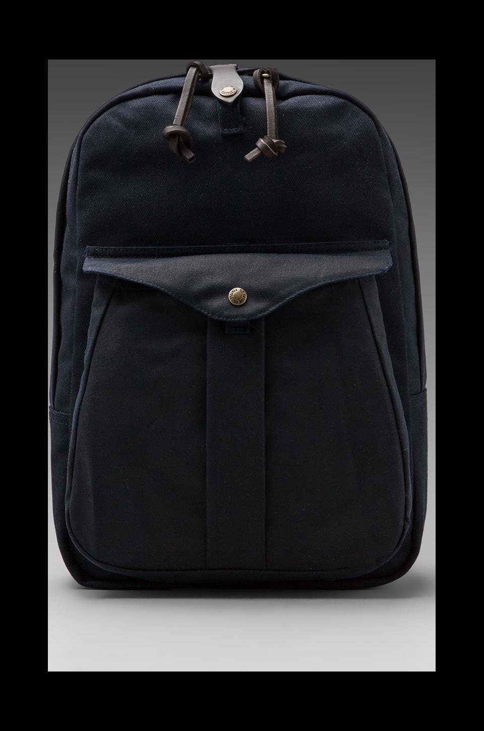 Filson Twill Backpack in Navy/ Navy