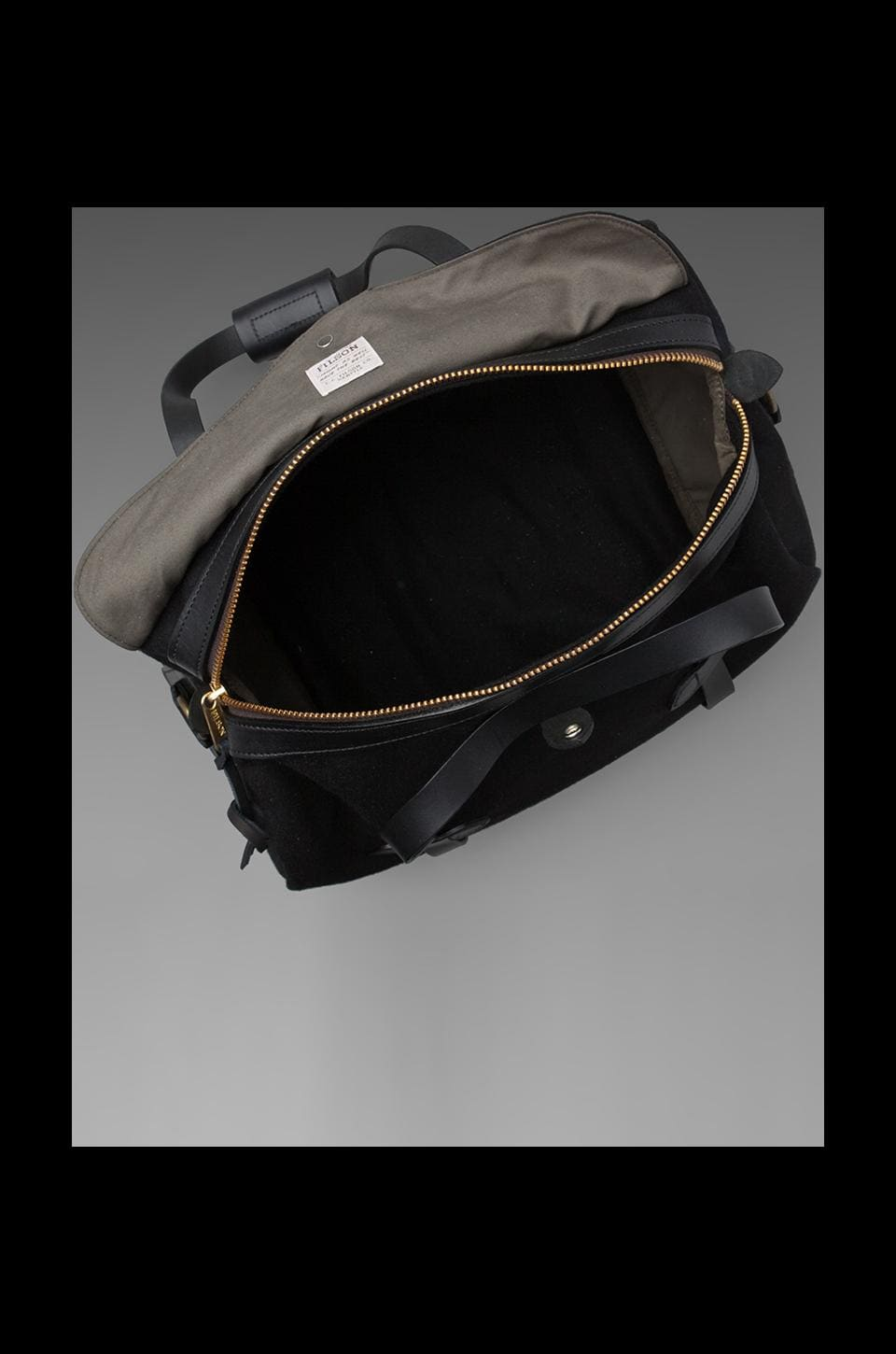 Filson White Label Wool Small Duffle Bag in Black