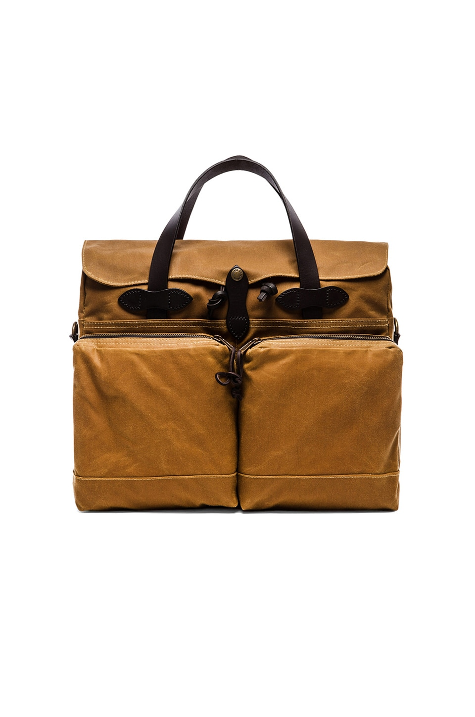 Filson 24 Hr Tin Cloth Briefcase in Dark Tan