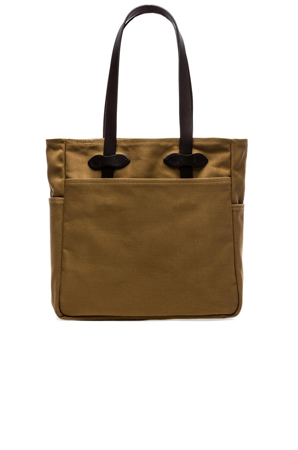 Filson Open Tote Bag in Dark Tan